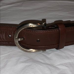 Salvatore Ferragamo Leather Belt BNWT Brown